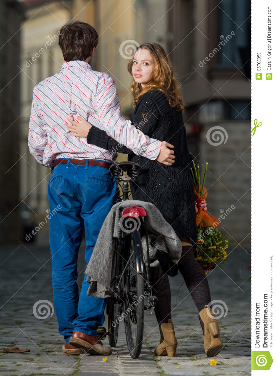 man walking away from a woman young man and woman walking away together royalty free 2942