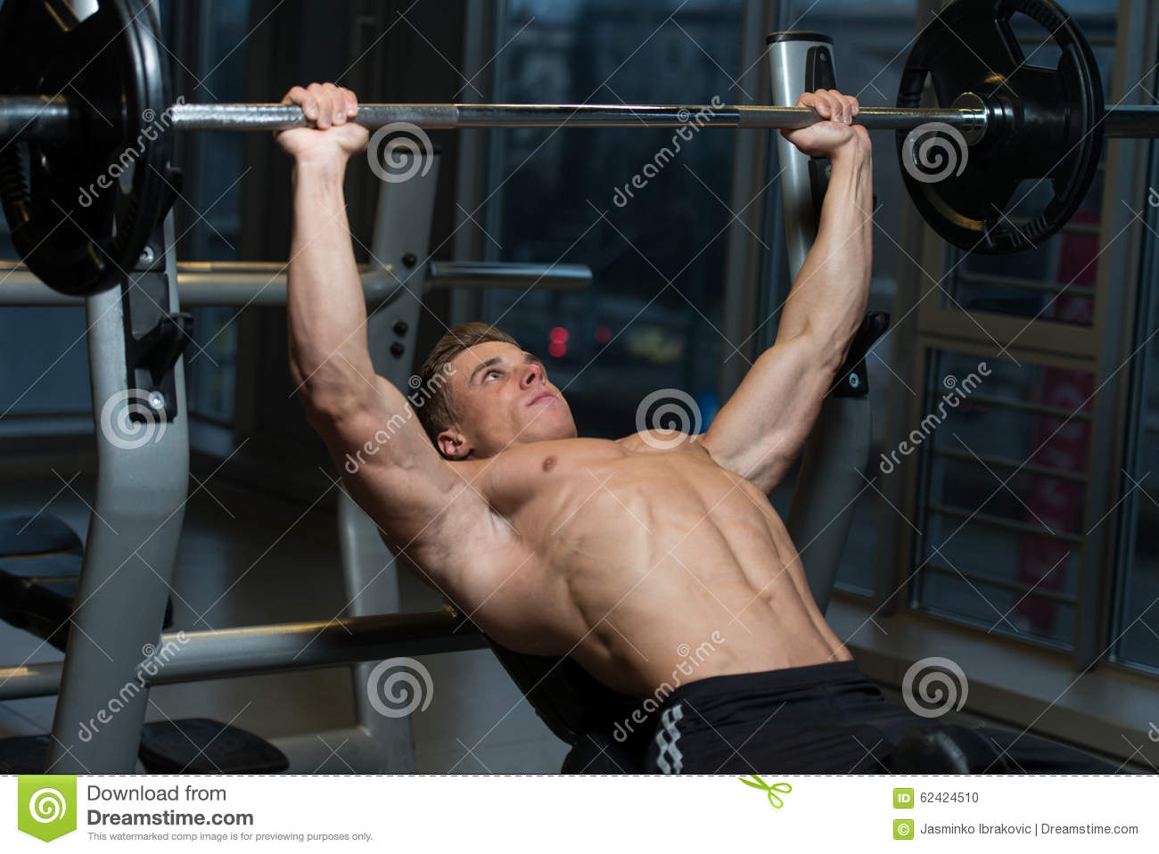 Outstanding Young Man Working Out Chest Stock Photo Image Of Healthy Ibusinesslaw Wood Chair Design Ideas Ibusinesslaworg