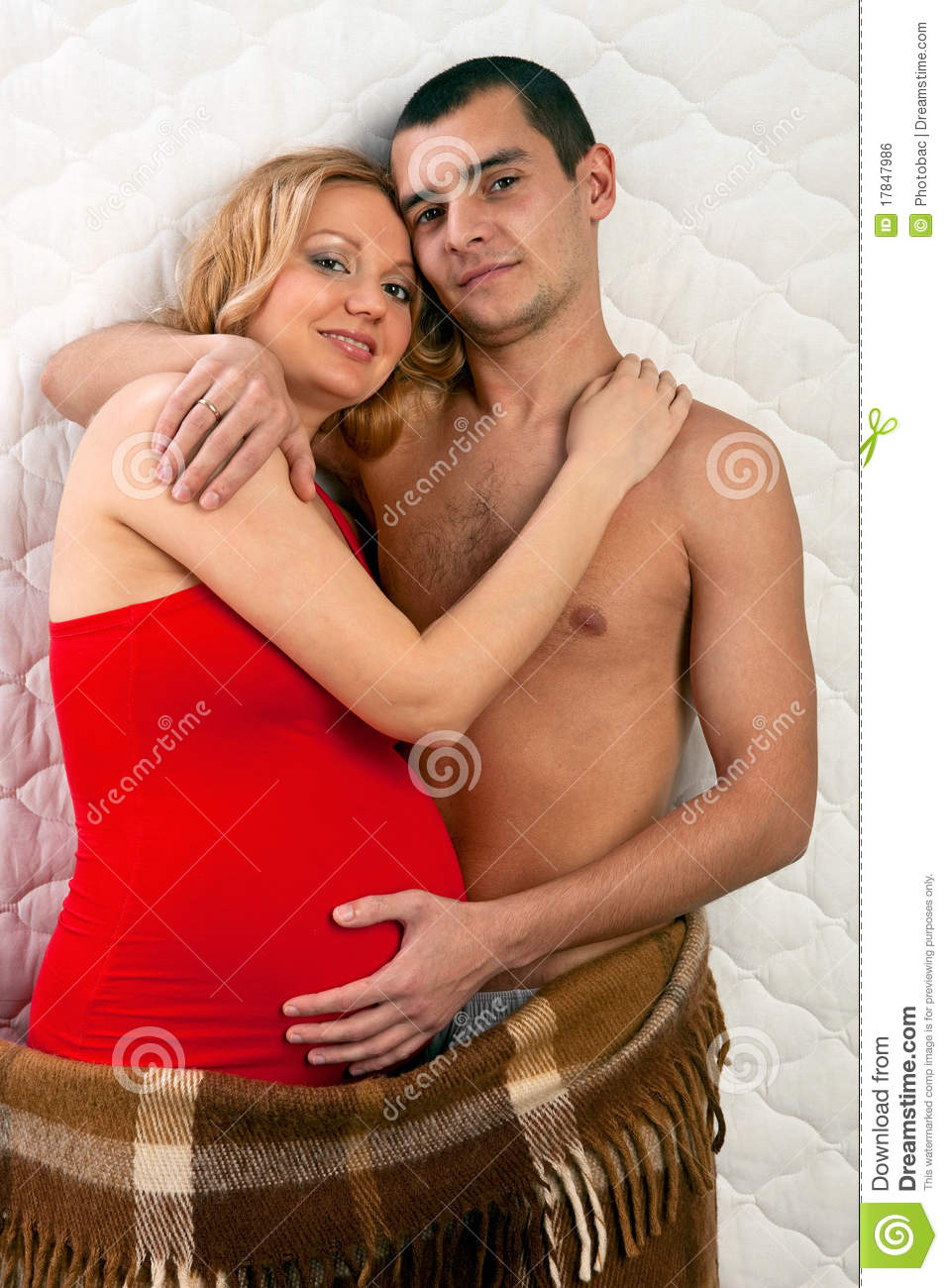 Young Married Couple Expecting Baby Royalty Free Stock