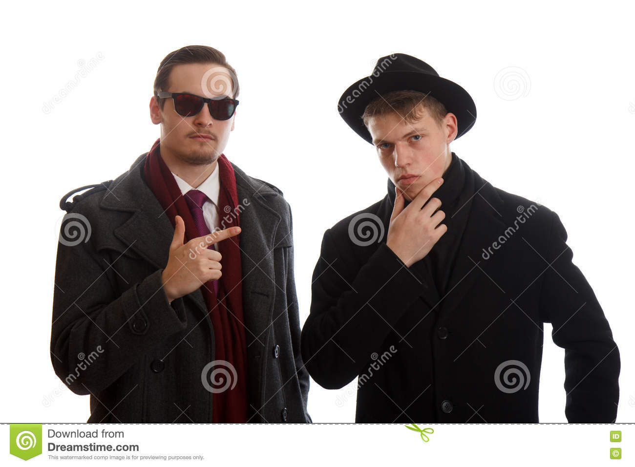 Young Men In Coats Stock Photo - Image: 71141798