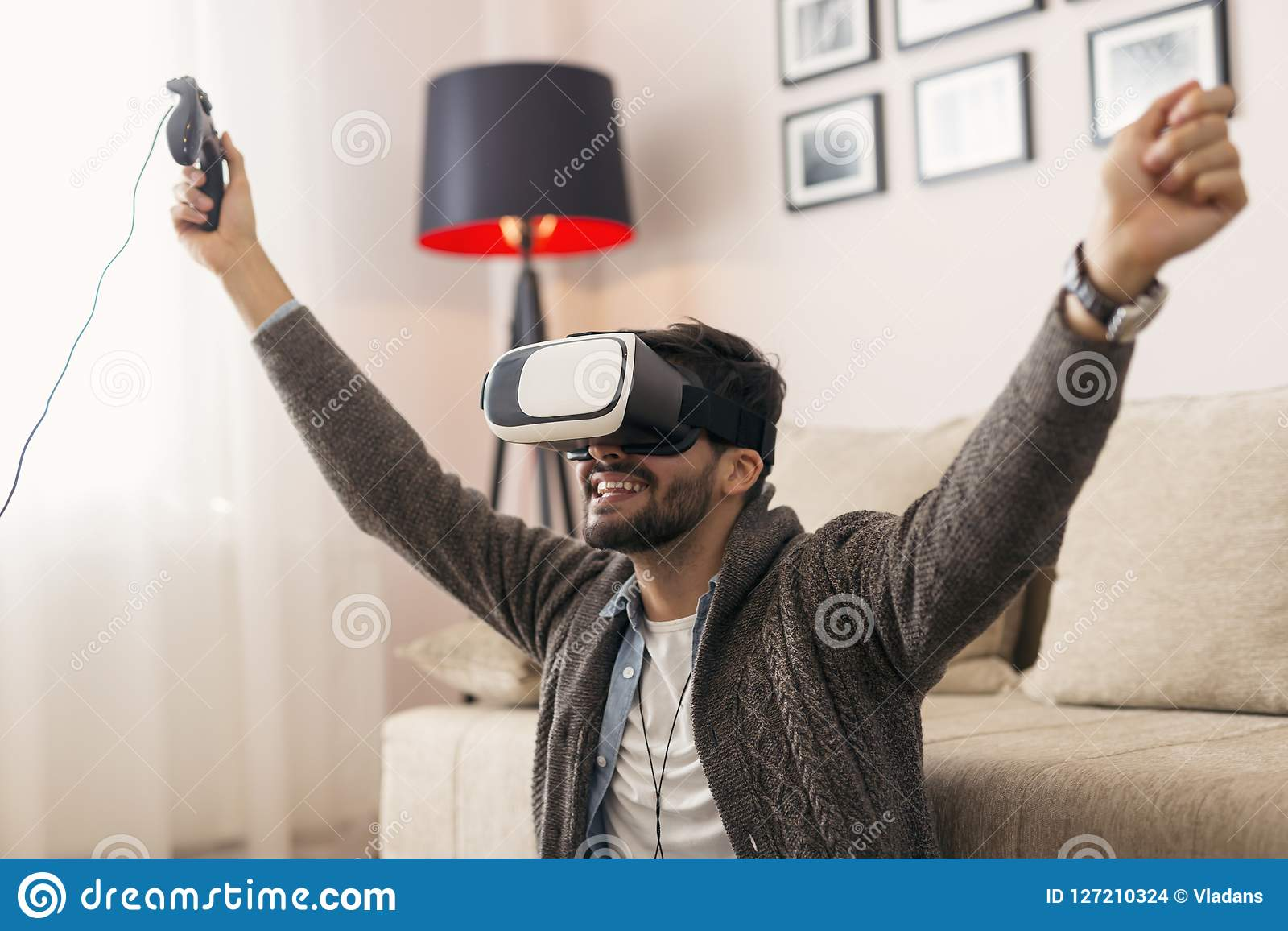 Playing a VR game