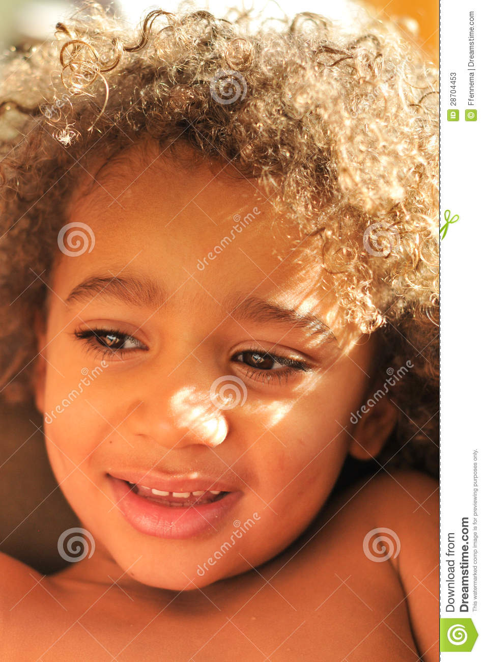 Young Mixed Race Boy With Curly Hair Stock Photos Image