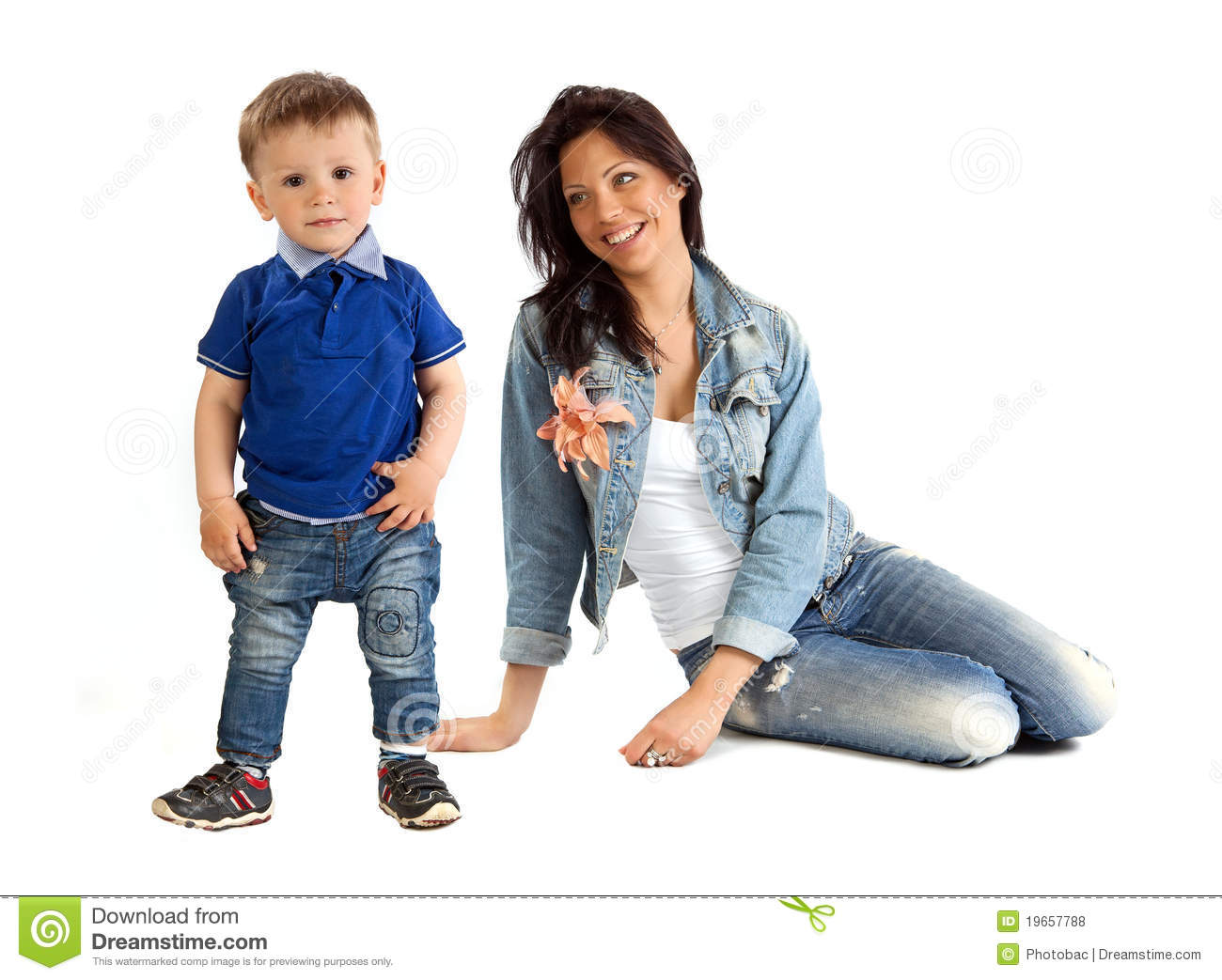 young mother and her son spending time together stock photo image 19657788. Black Bedroom Furniture Sets. Home Design Ideas
