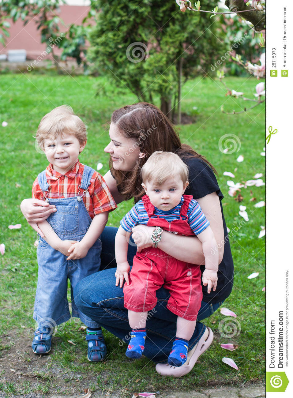 boys two young Mom and
