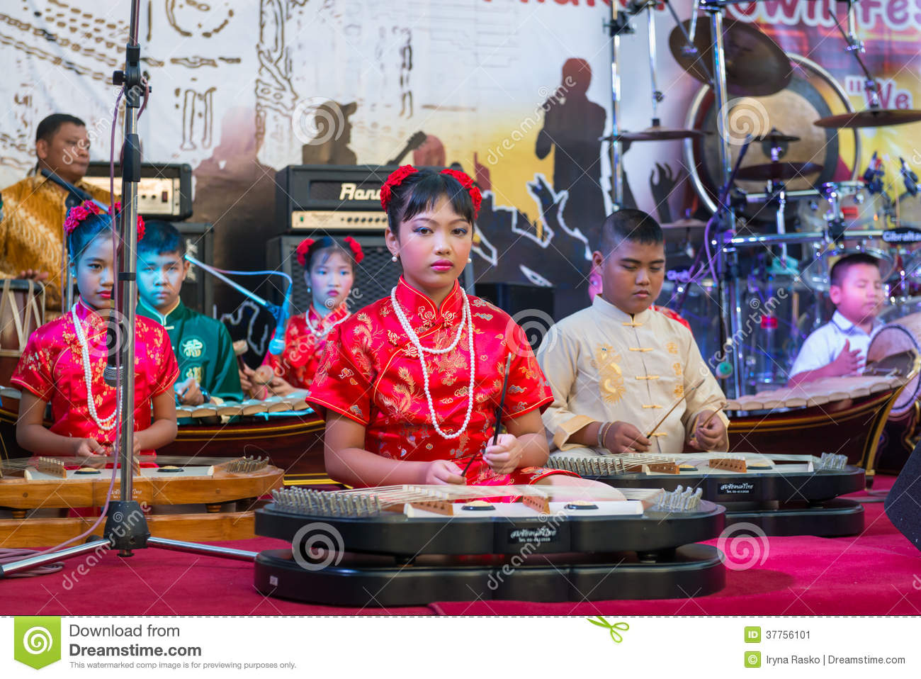 Young Musicians On On A Stage Editorial Photo - Image of