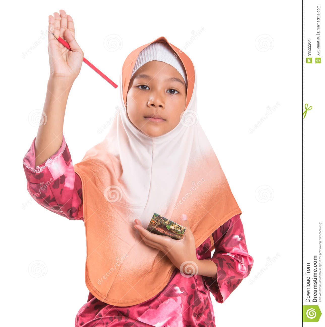image Young muslim girl and immigrant woman first