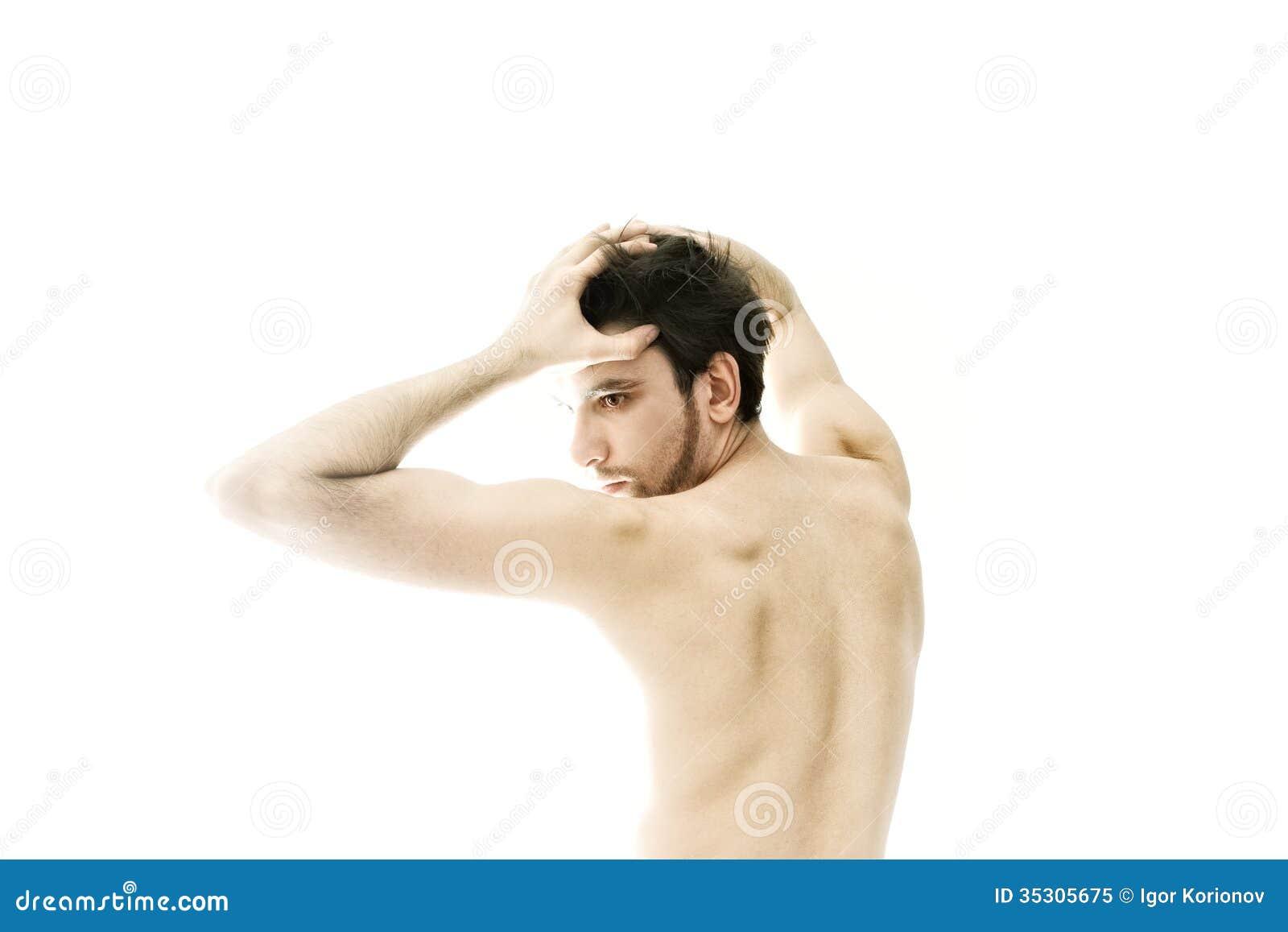 Naked dancing man