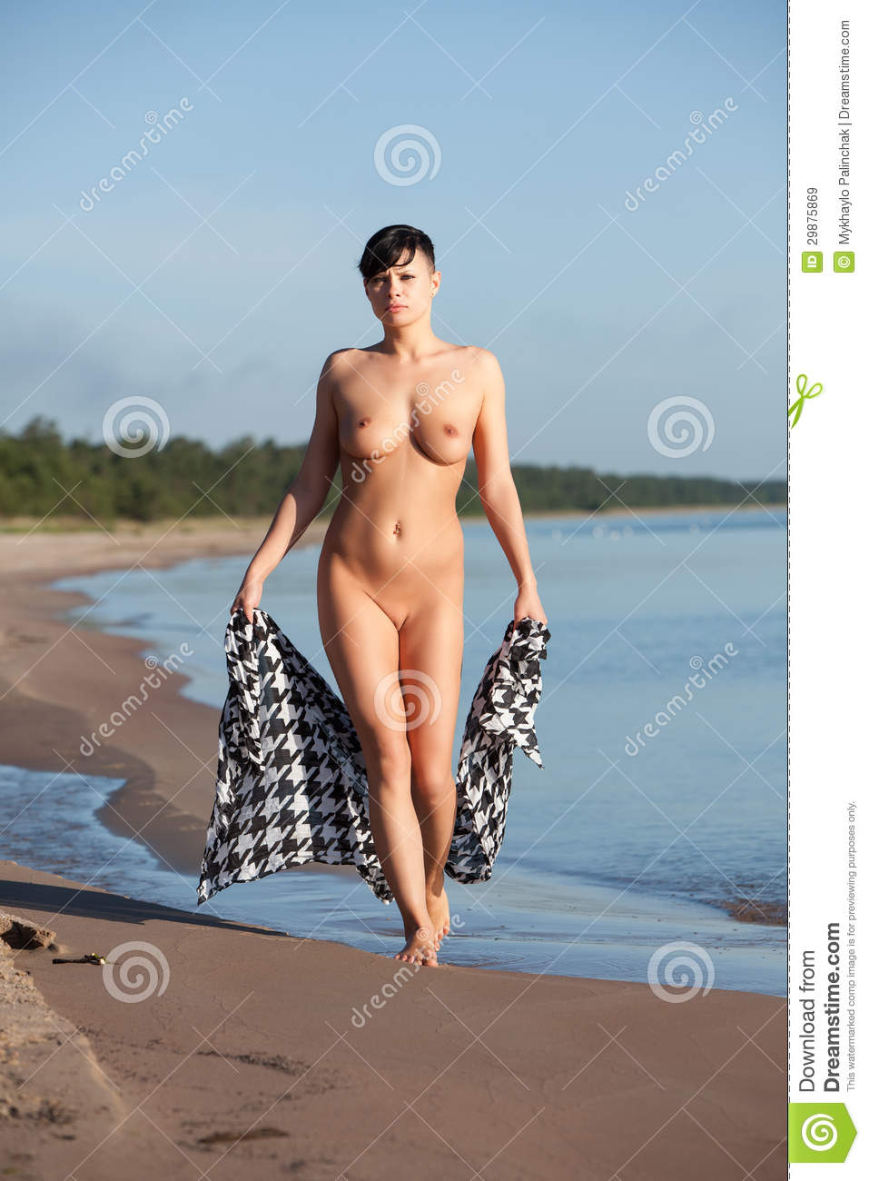 beach Naked woman