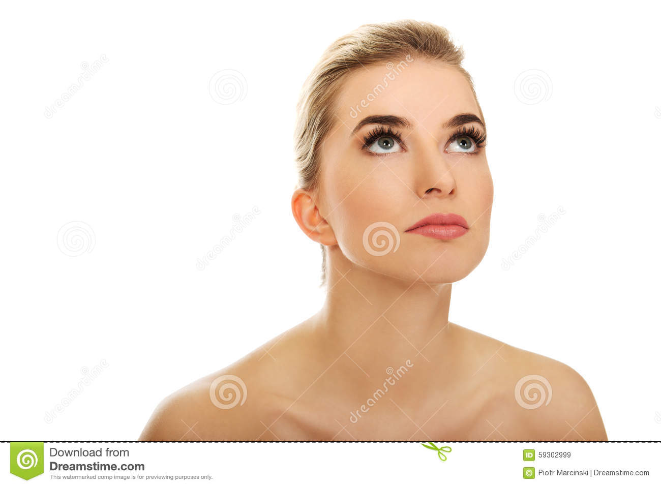 Beautiful young woman caught naked — Stock Photo © piotr