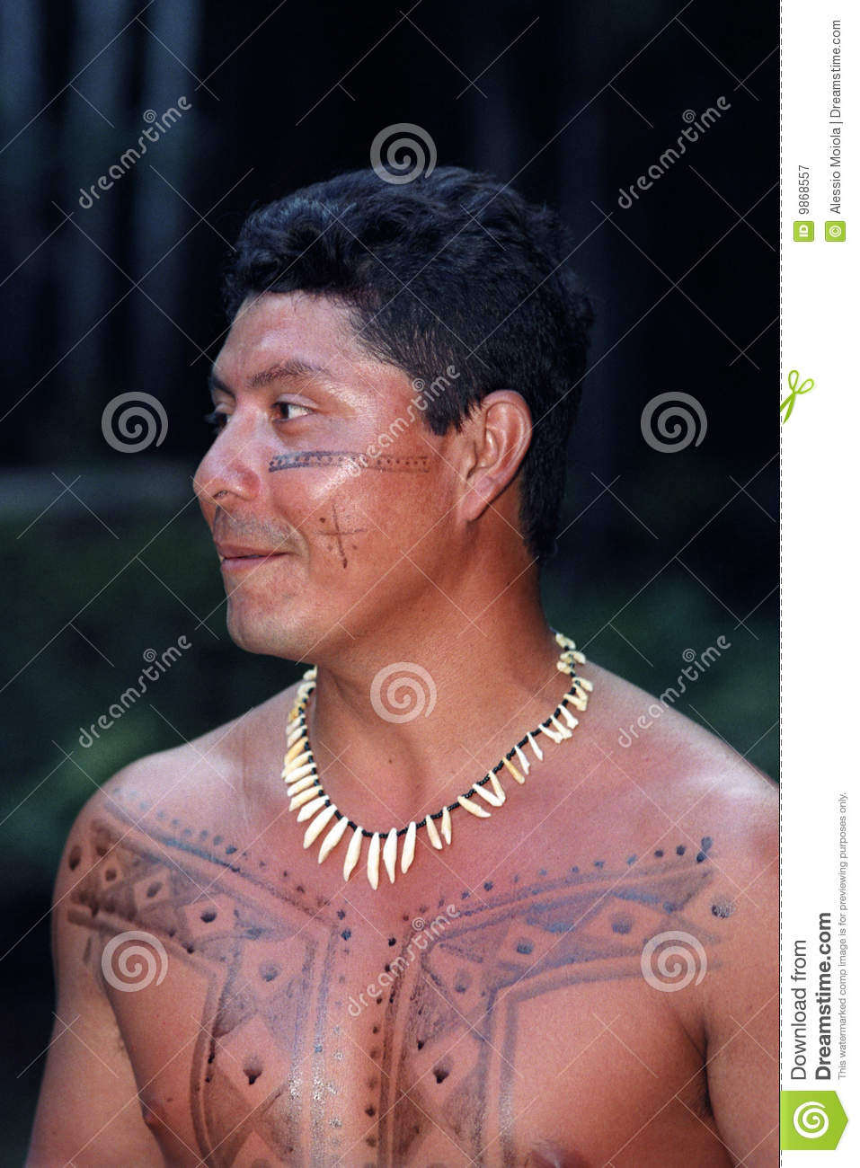 Young native indian of Brazil