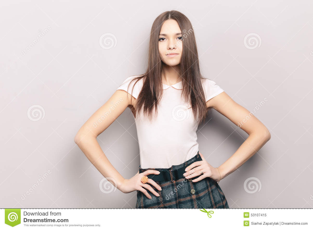 Royalty-Free Stock Photo. Download Young Naughty Beautiful Brunette Woman  ...