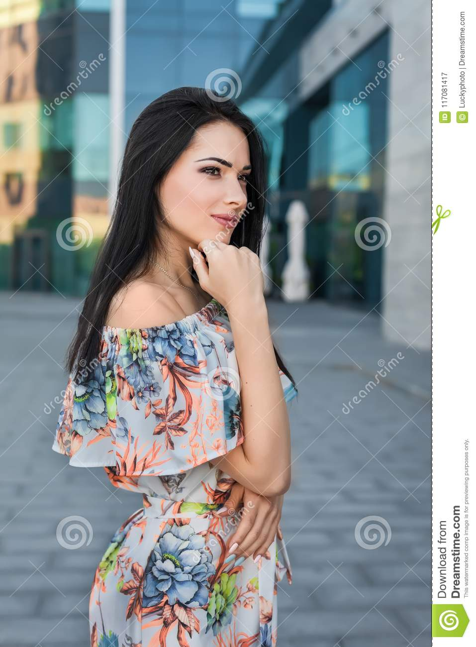 Nice Girl In The Street Stock Image Image Of Attractive 117081417