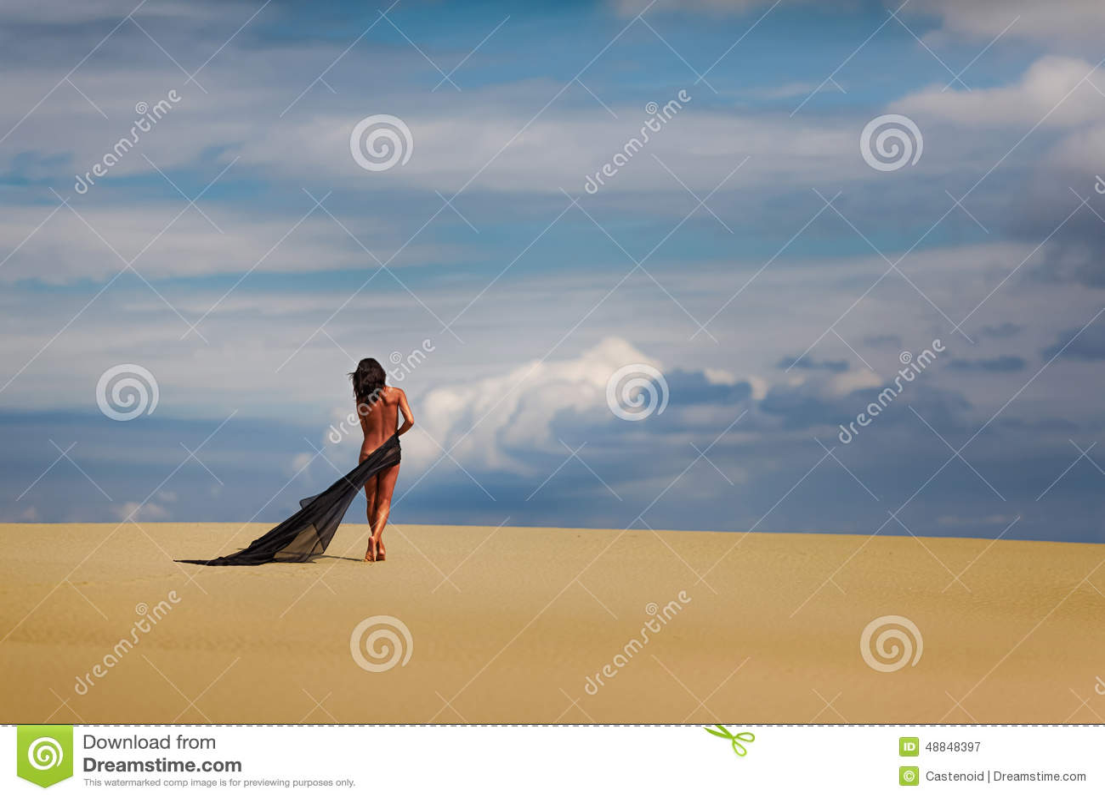 Nude girls in the desert
