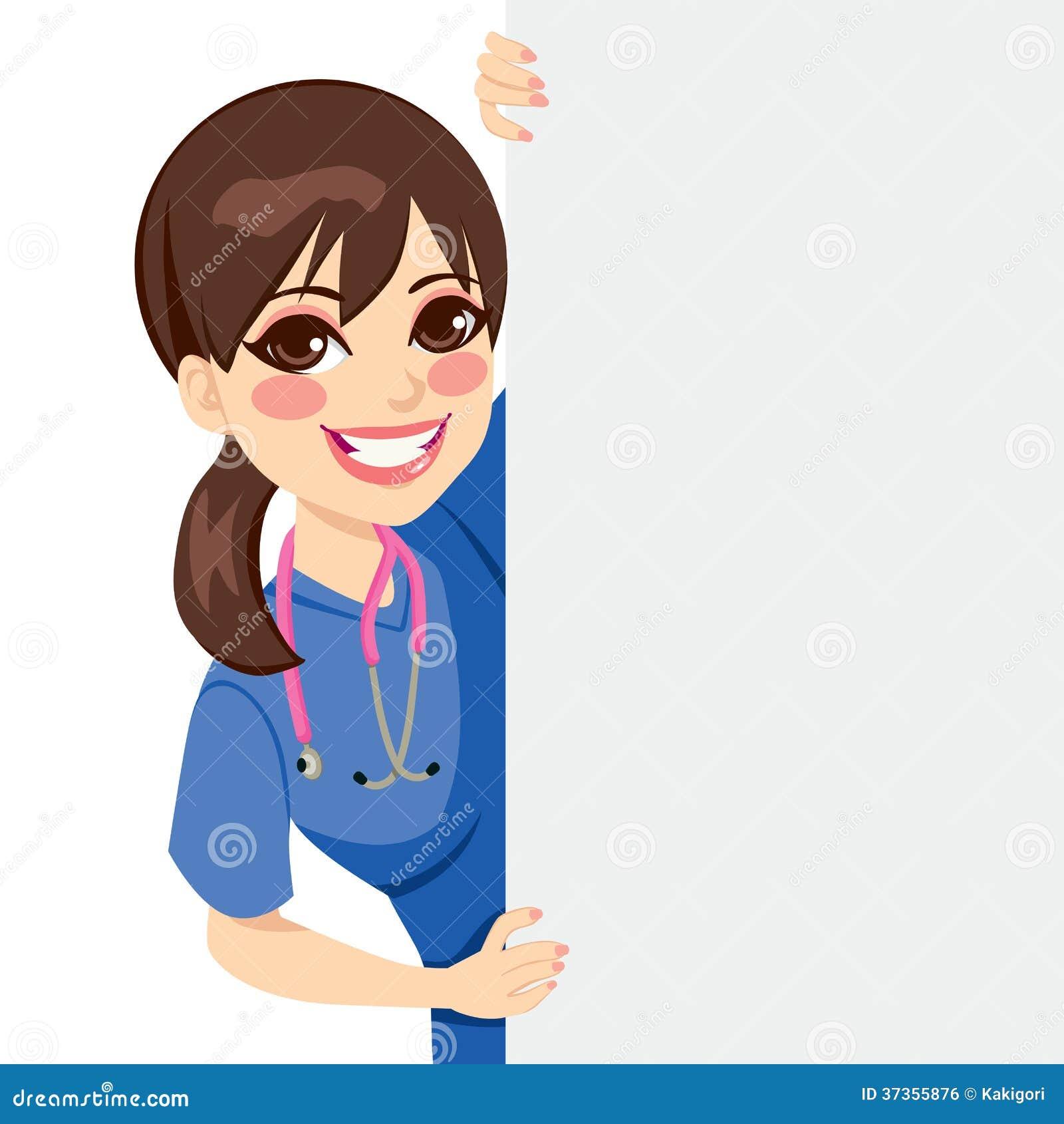 Young Nurse Peeking Royalty Free Stock Image Image 37355876