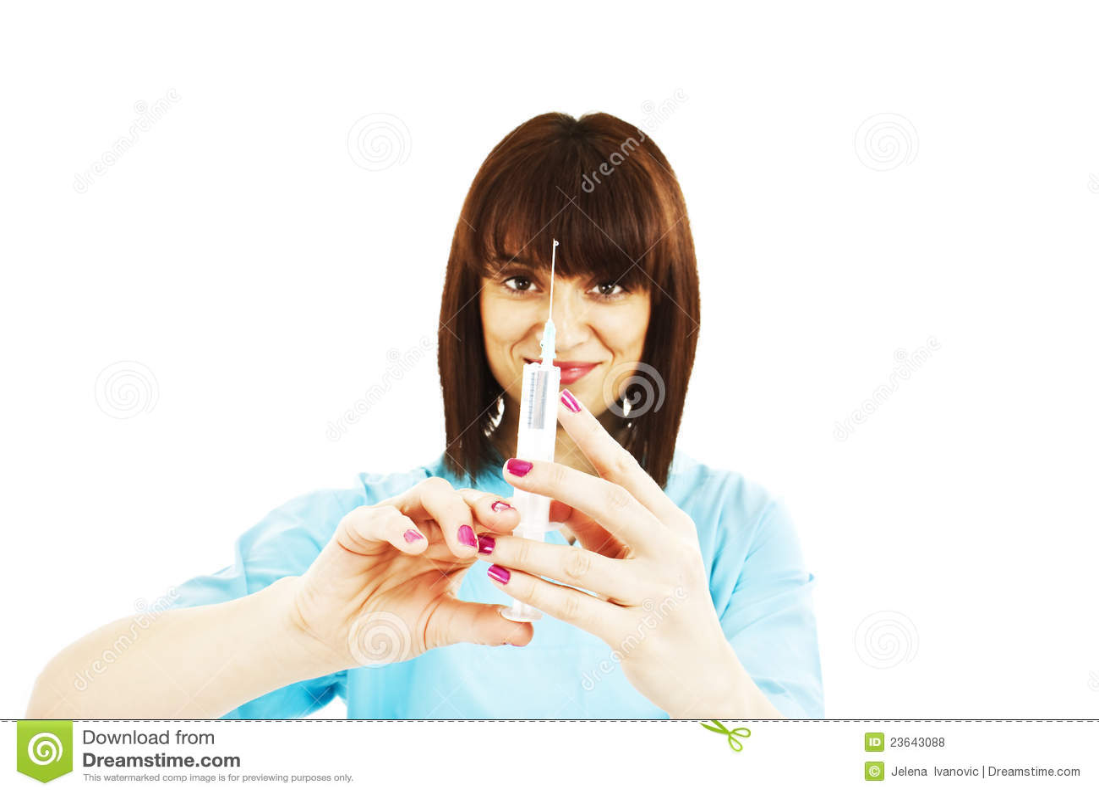 Syringe on girl 6 lechazo a jovencita se dio cuenta