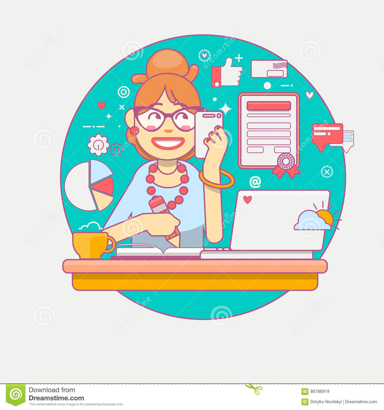 home office multitasking. Home Office Multitasking. Young Manager Or Businesswoman Multi-tasking. Business Lady Company Multitasking A