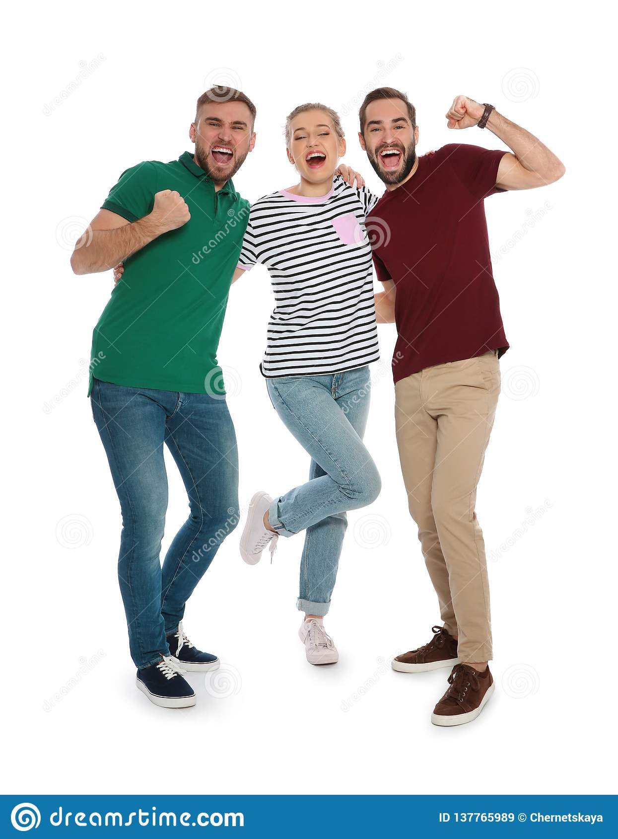 Young People Celebrating Victory Stock Image - Image of ...