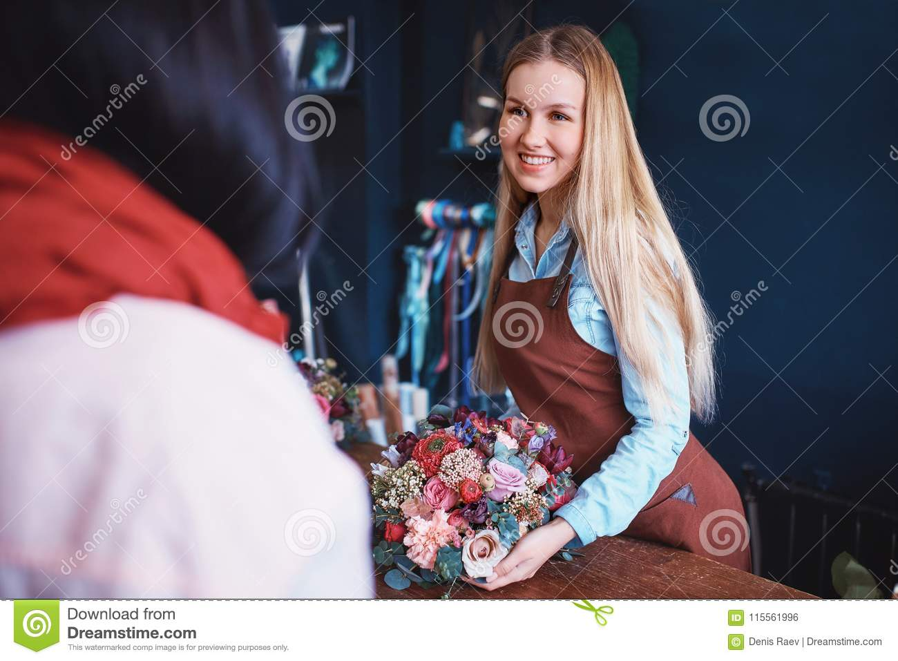 Young people at the counter