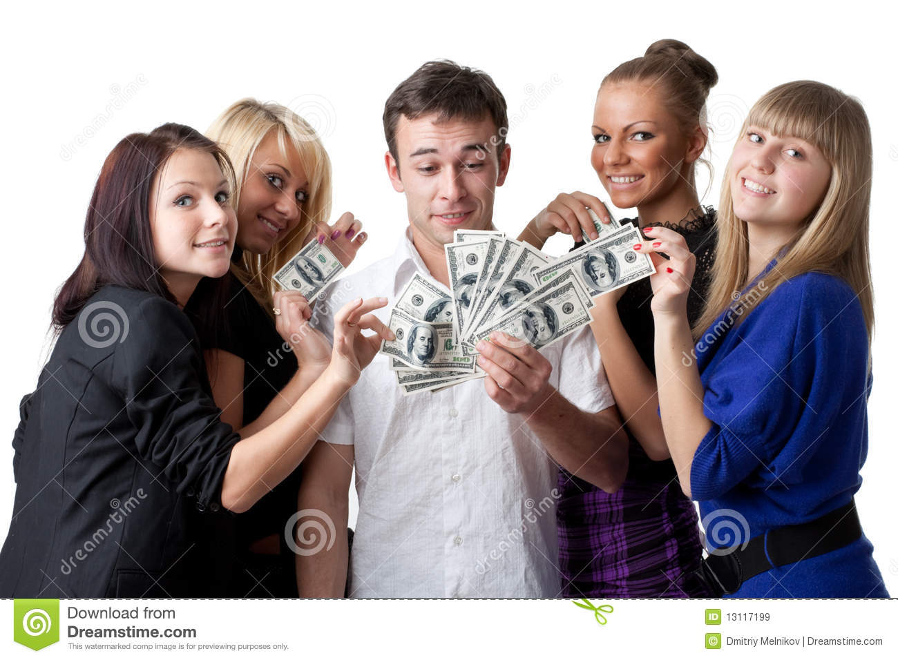 Young People With Money Royalty Free Stock Images Image