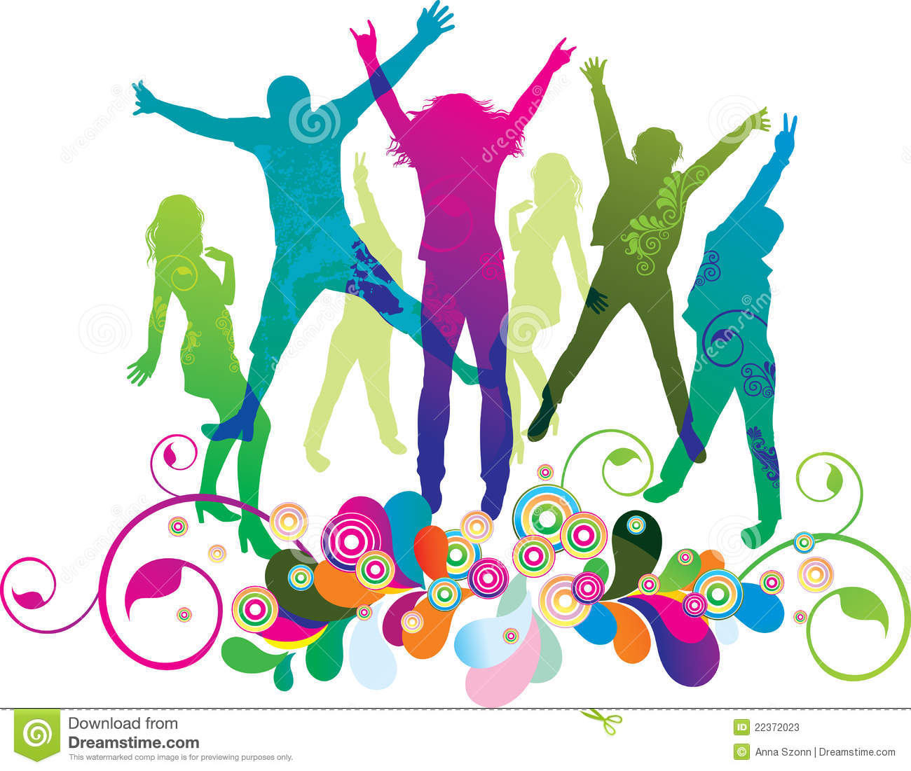 Young People On The Party Dancing Teenagers Stock Photos