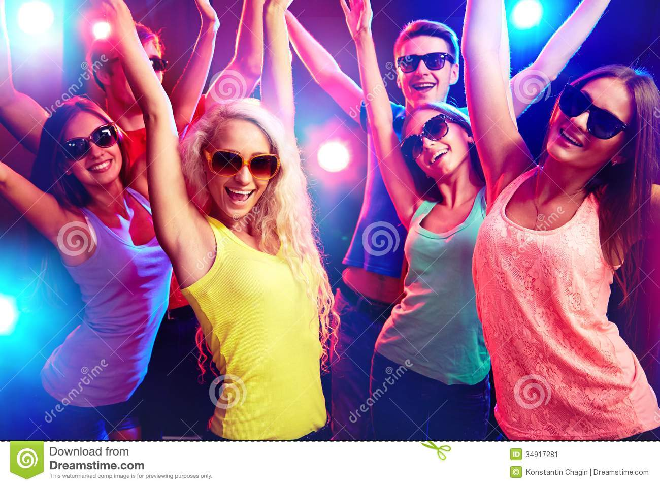 young people at party stock image   image 34917281