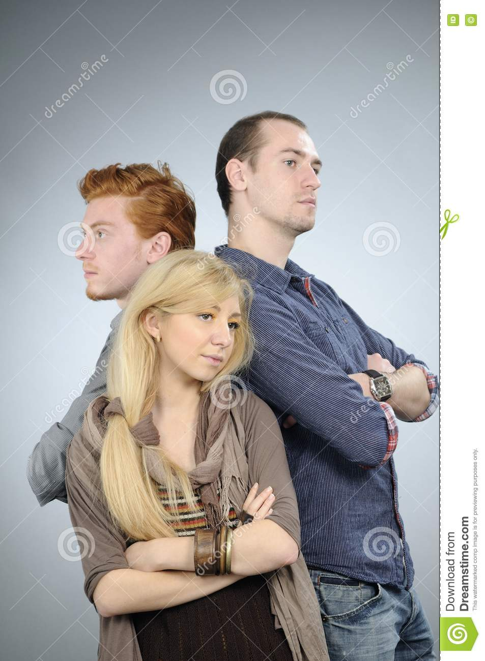 Young People Posing Royalty Free Stock Image - Image: 16649246