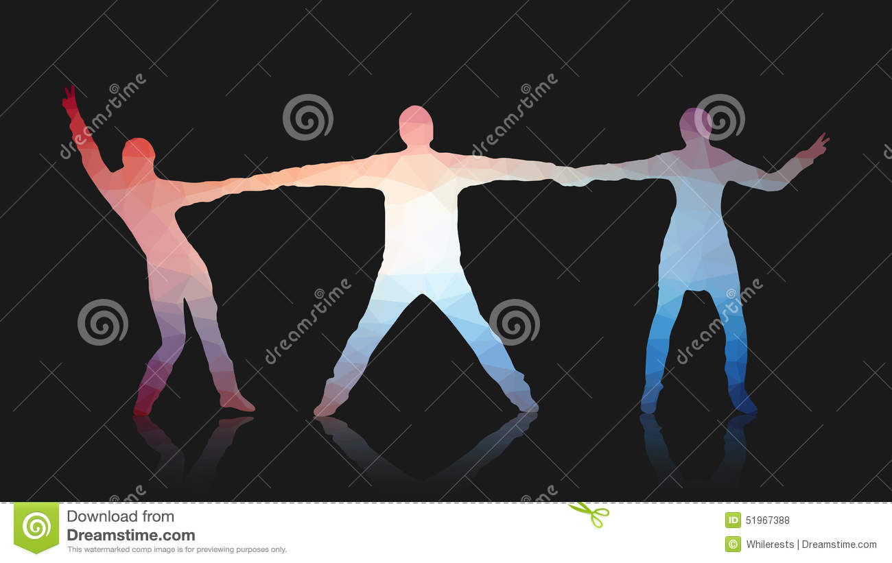 Abstract Triangle Volleyball Player Silhouette Stock: Young People Posing For The Camera. Triangles Abstract