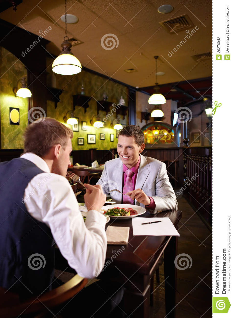 Young People In The Restaurant Stock Photography Image