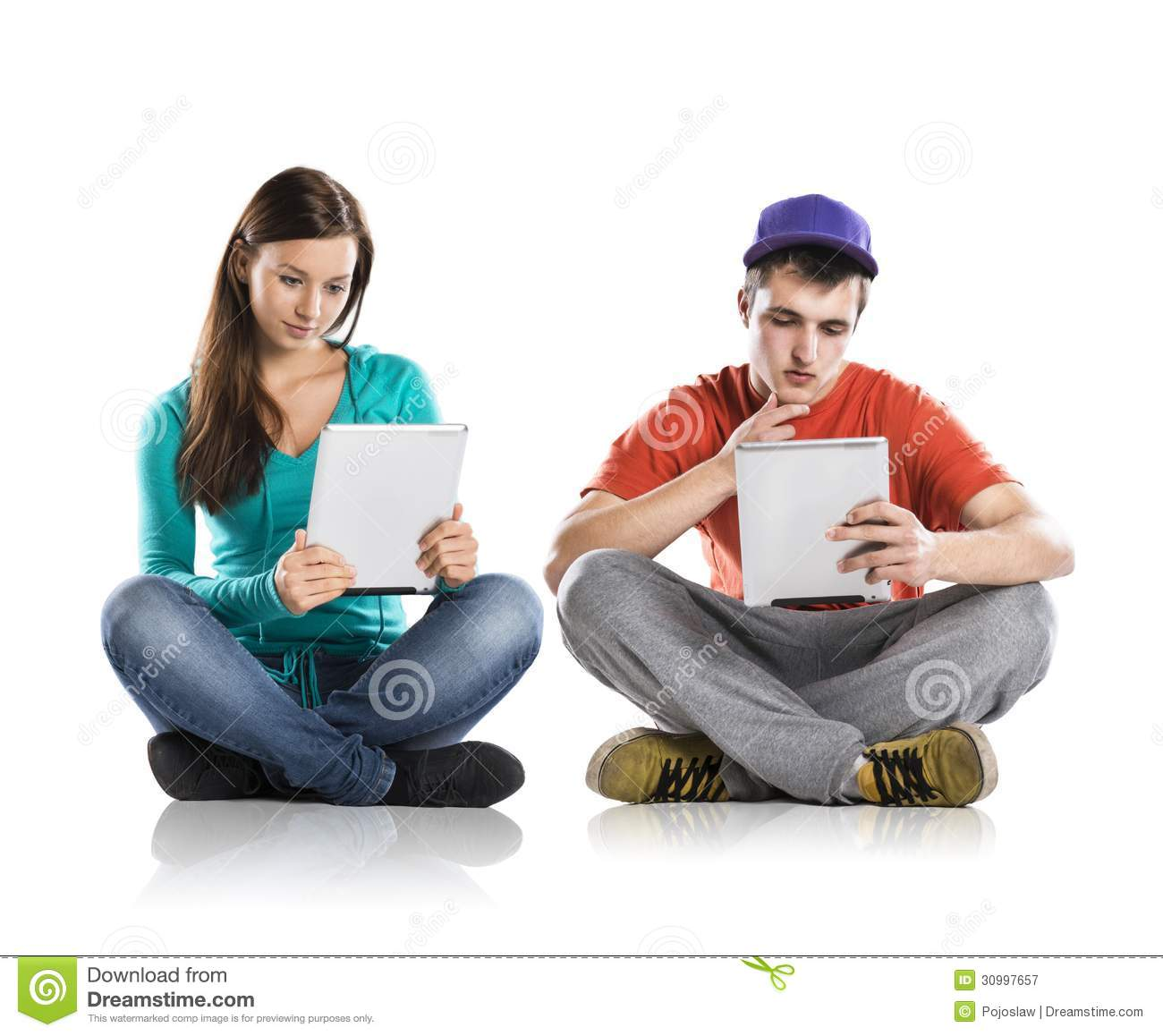 Young People With Tablets Royalty Free Stock Photography ...
