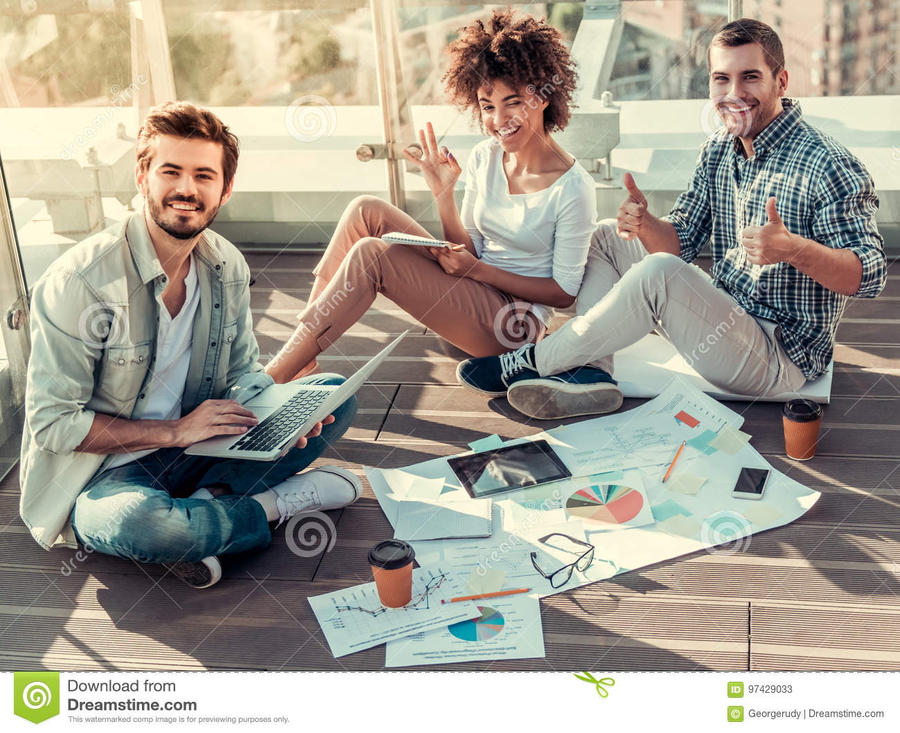 young people working stock image image of communication 97429033