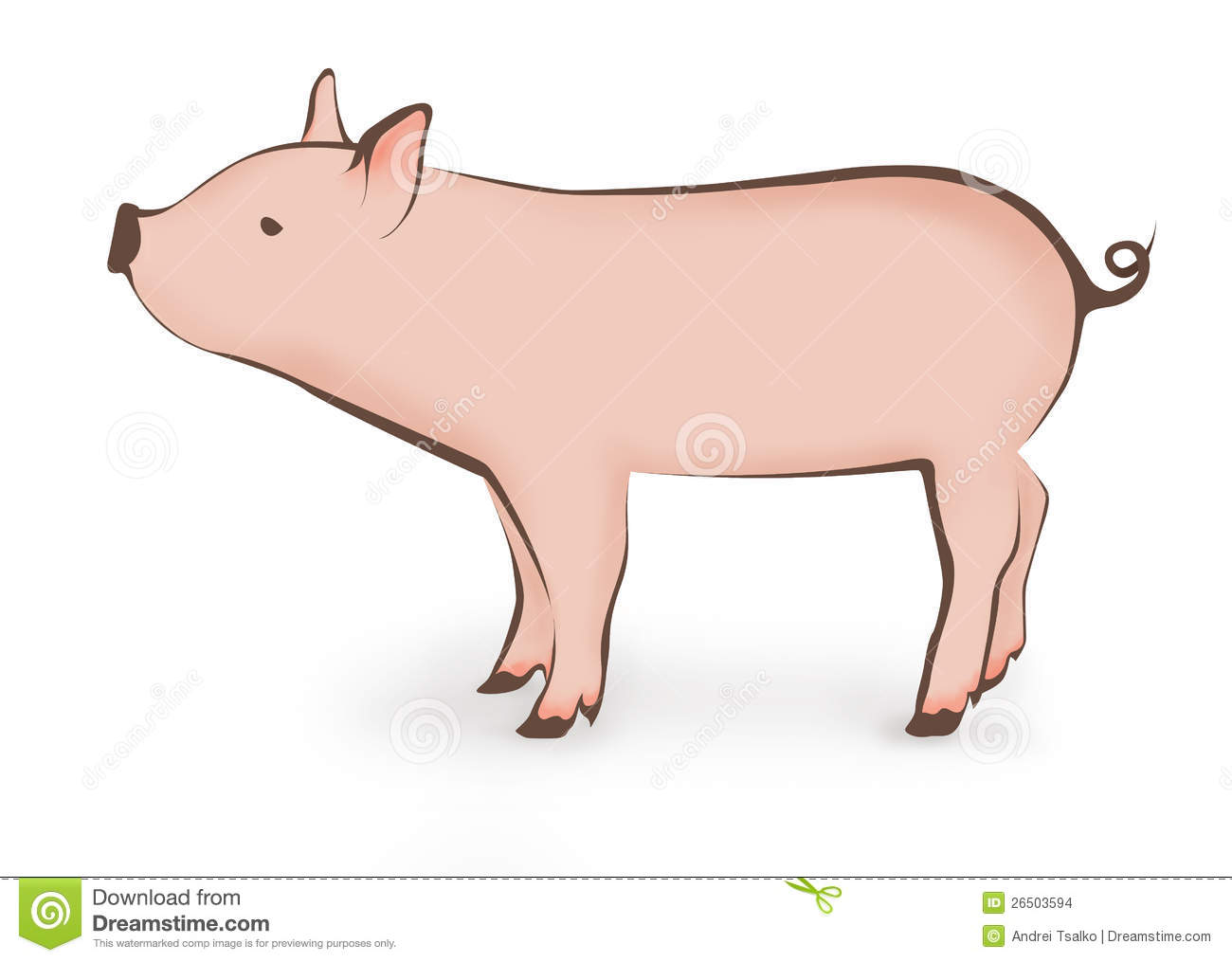 Young Pig Illustration Stock Images - Image: 26503594