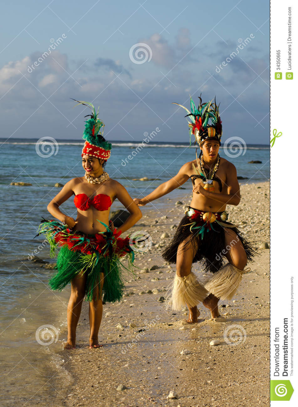 Download Young Polynesian Pacific Island Tahitian Dancers Couple Stock Image - Image of female, islander: 34350665