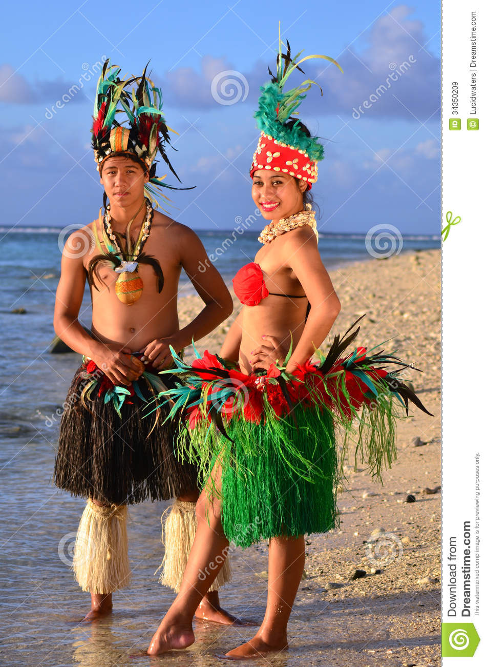 Download Young Polynesian Pacific Island Tahitian Dancers Couple Stock Image - Image of active, dancer: 34350209
