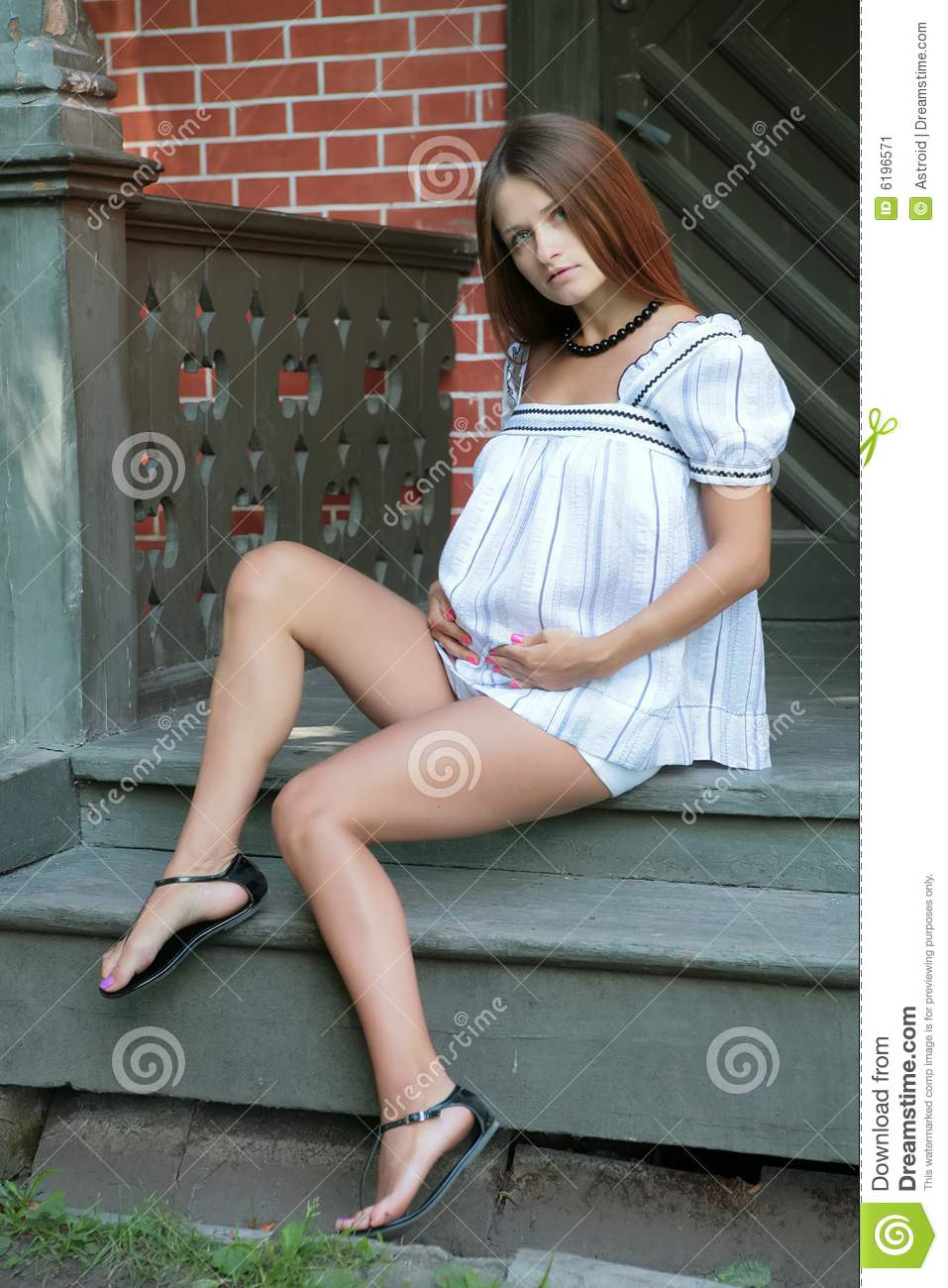 Young Pregnant Woman Stock Image Image Of Holding -4374