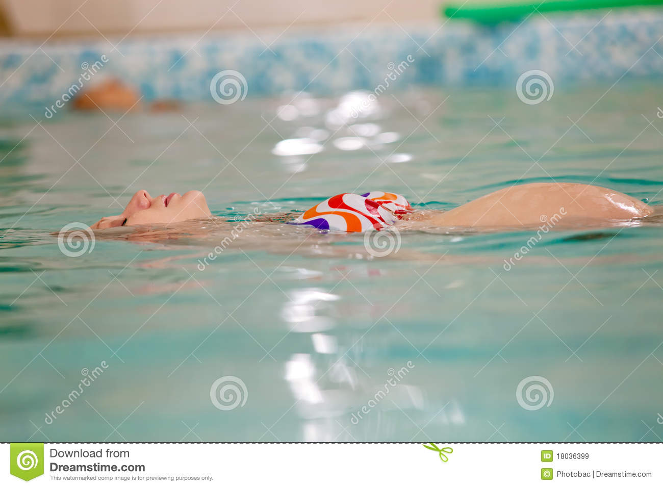 Young Pregnant Woman In Swimming Pool Royalty Free Stock Images Image 18036399