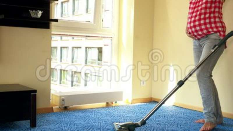 Young Pregnant Woman Vacuuming Wooden Floor Stock Video Video Of