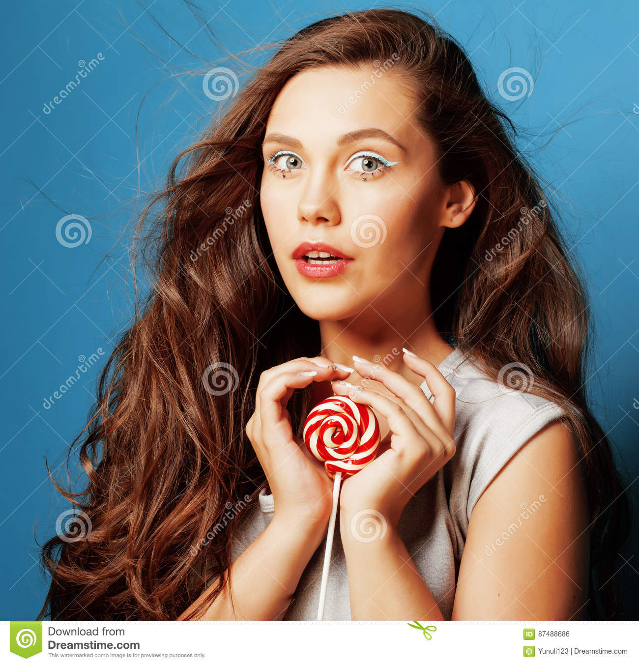 Candy doll stock photos royalty free stock images young pretty adorable woman with candy close up like doll makeup royalty free stock image voltagebd Gallery