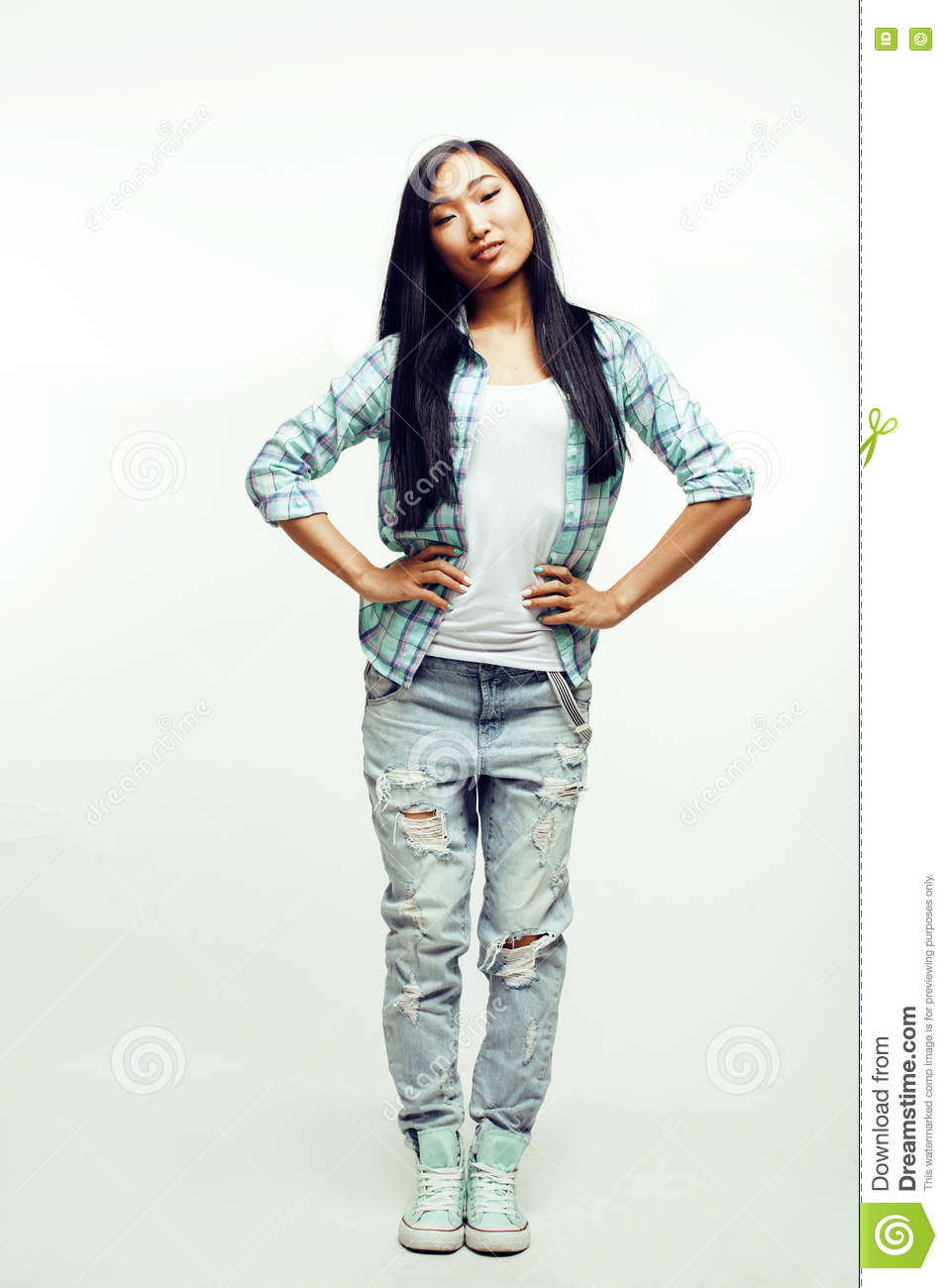 posing background pretty emotional asian cheerful young woman lifestyle concept preview lady happy