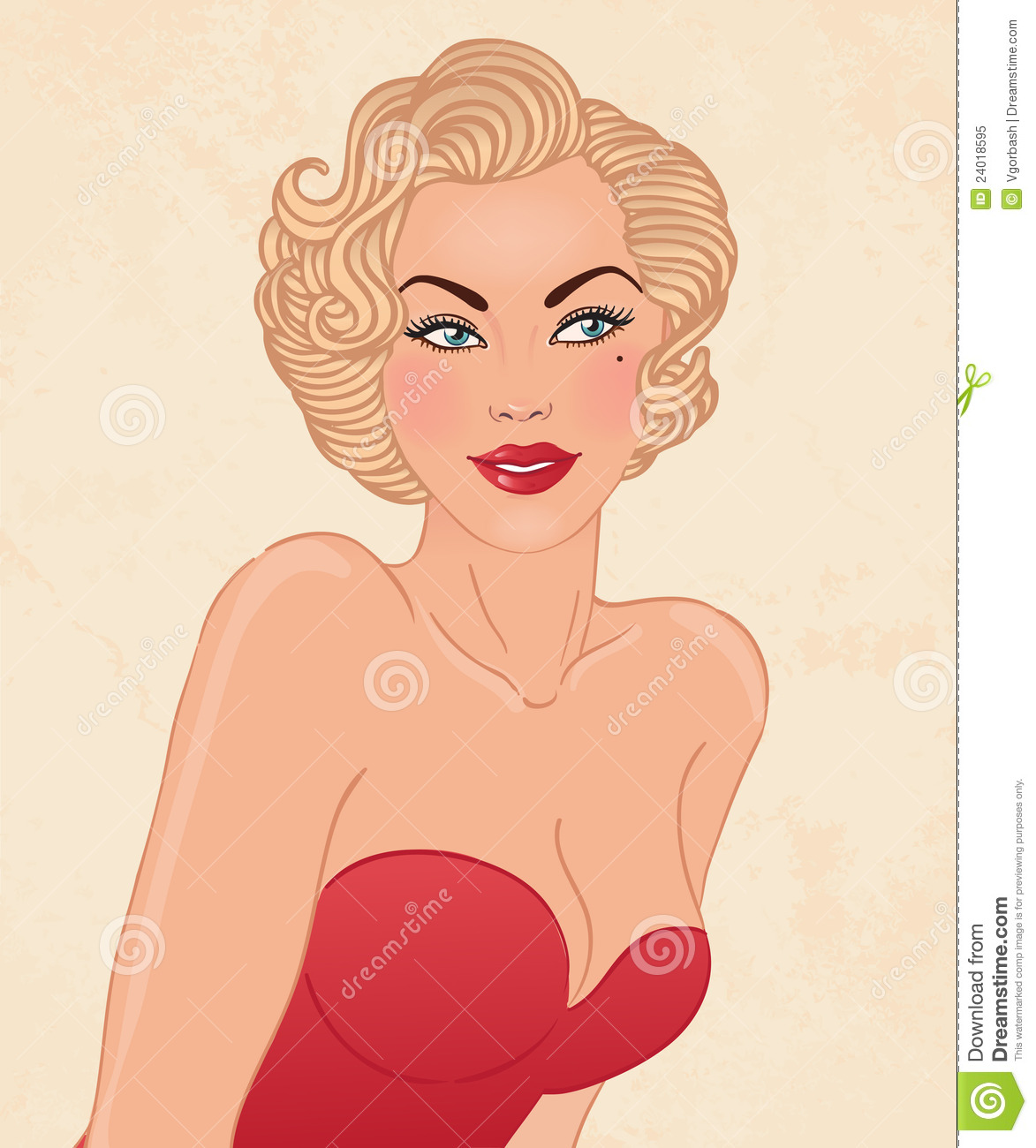 Young Pretty Blonde Woman In 1950 S Style Royalty Free Stock Photo Image 24018595