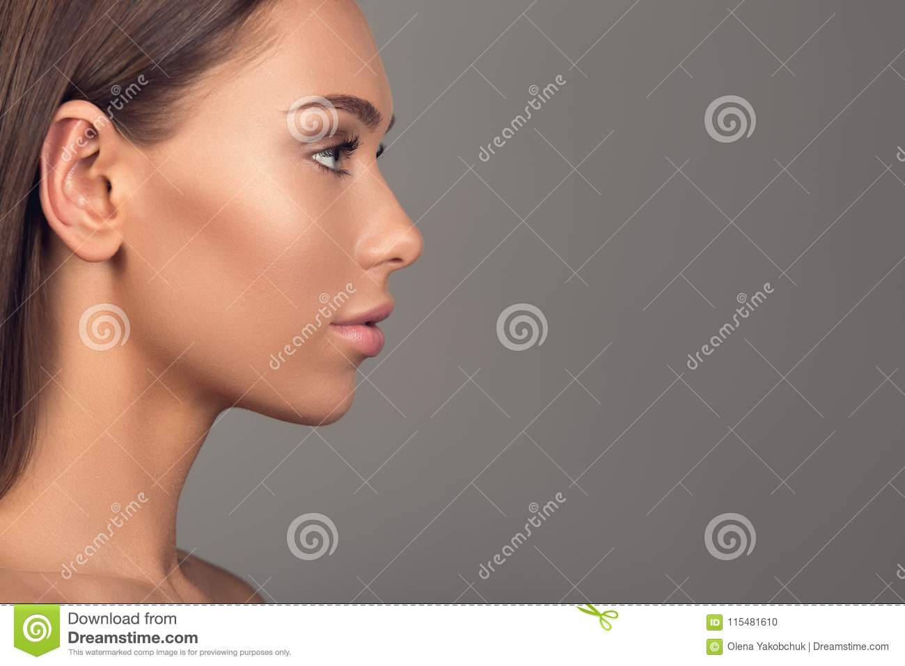 Young And Pretty Female Face Stock Photo