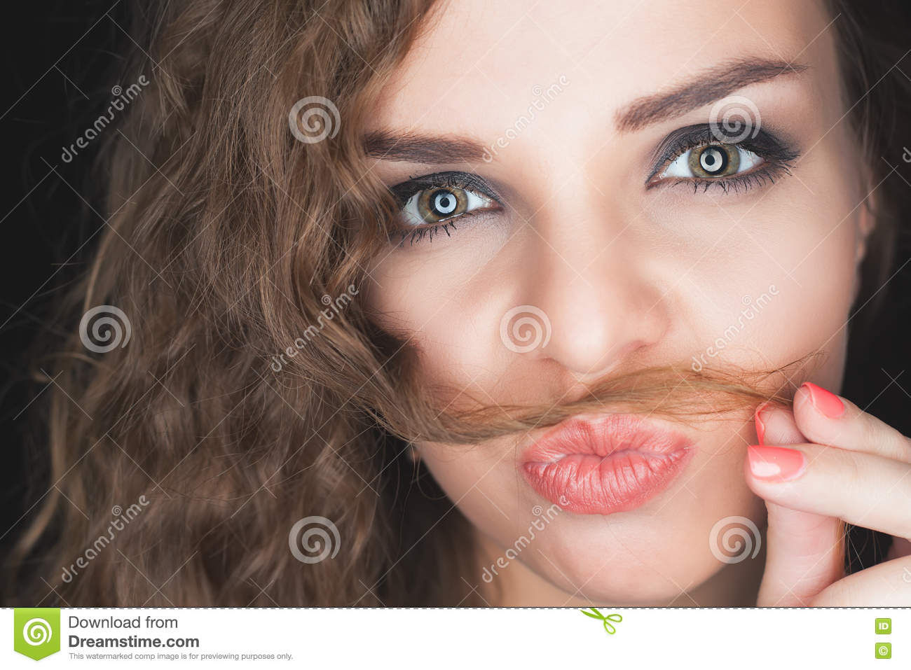 Why do girls have a mustache and how to deal with them