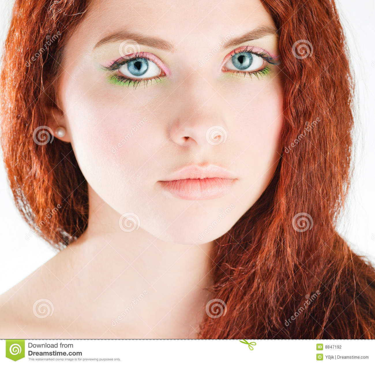 Whom can Young girl with red hair good result