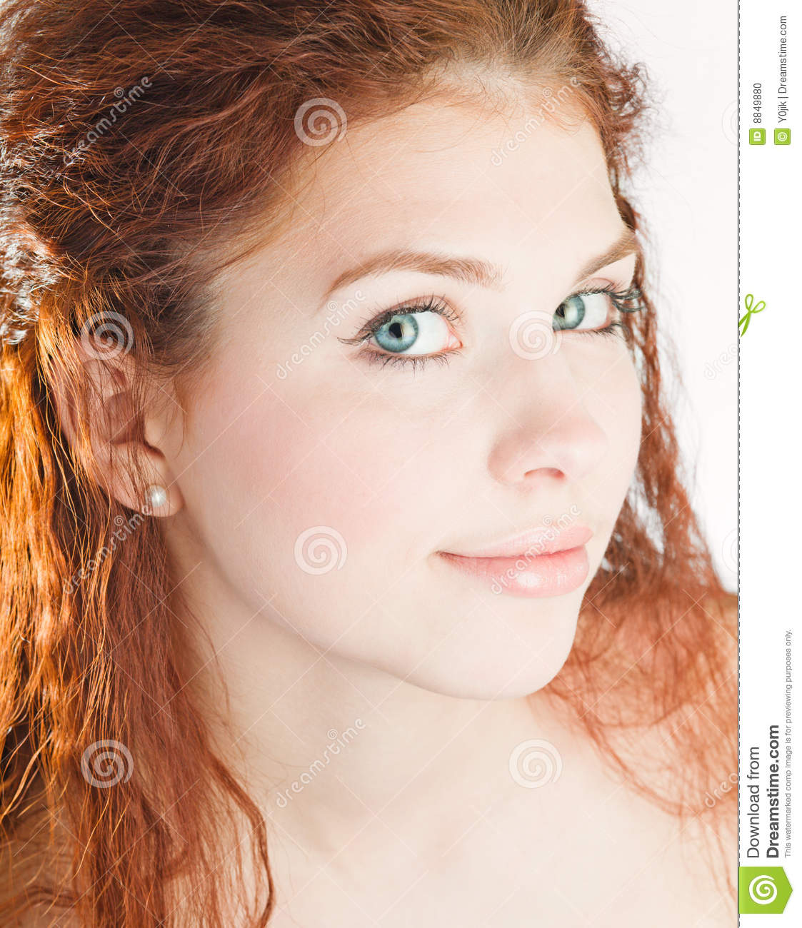 young girl with red hair stock photo image of forest young pretty girl with red hair stock photo image 8849880