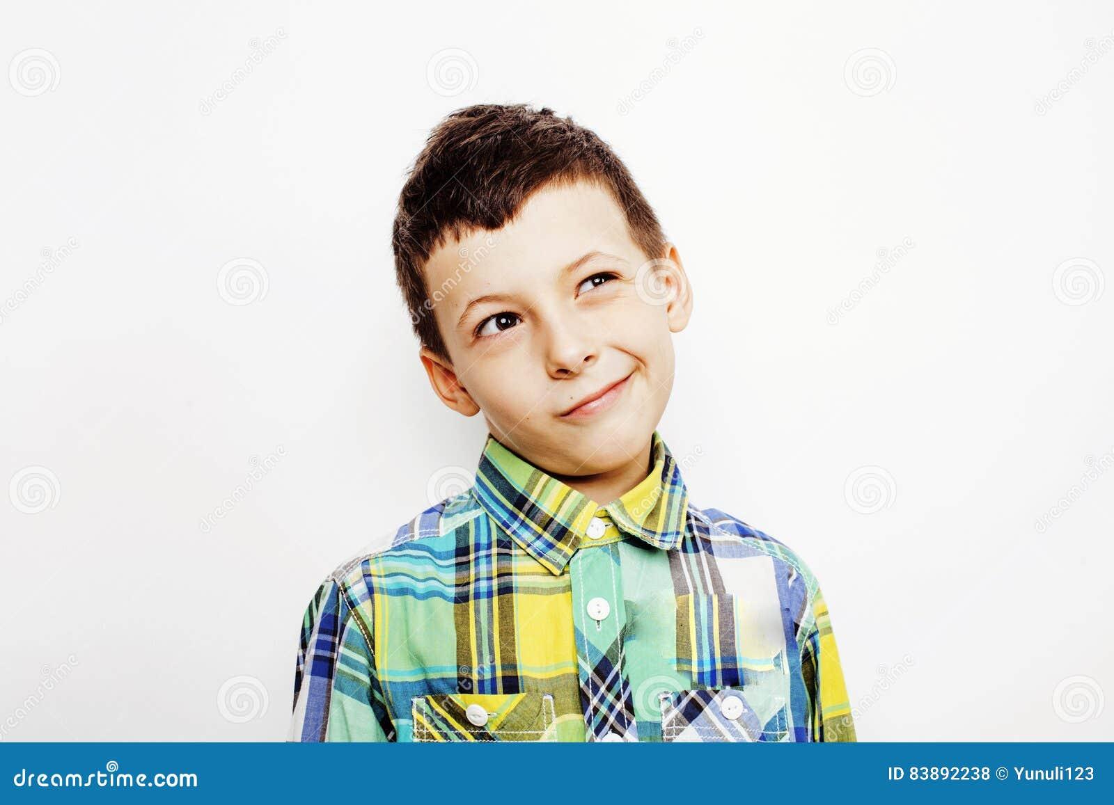 Young Pretty Little Boy Kid Wondering, Posing Emotional ...