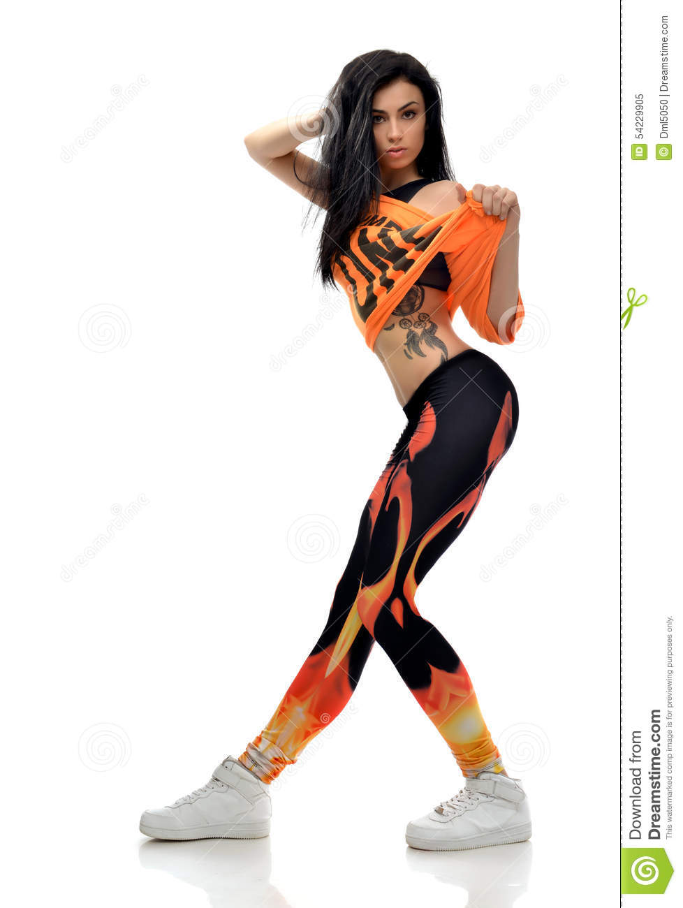Fabulous Young Pretty Modern Slim Hip Hop Style Teenage Girl Dancer With Hairstyles For Women Draintrainus