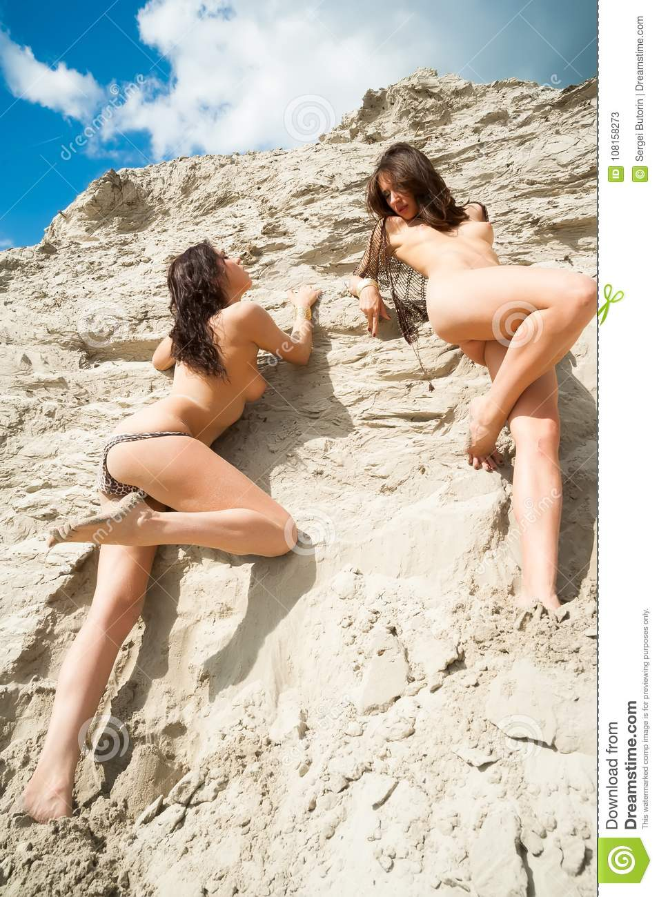 Naked girls at rest Attractive Naked Girls Relax On Sand Stock Image Image Of Female Model 108158273
