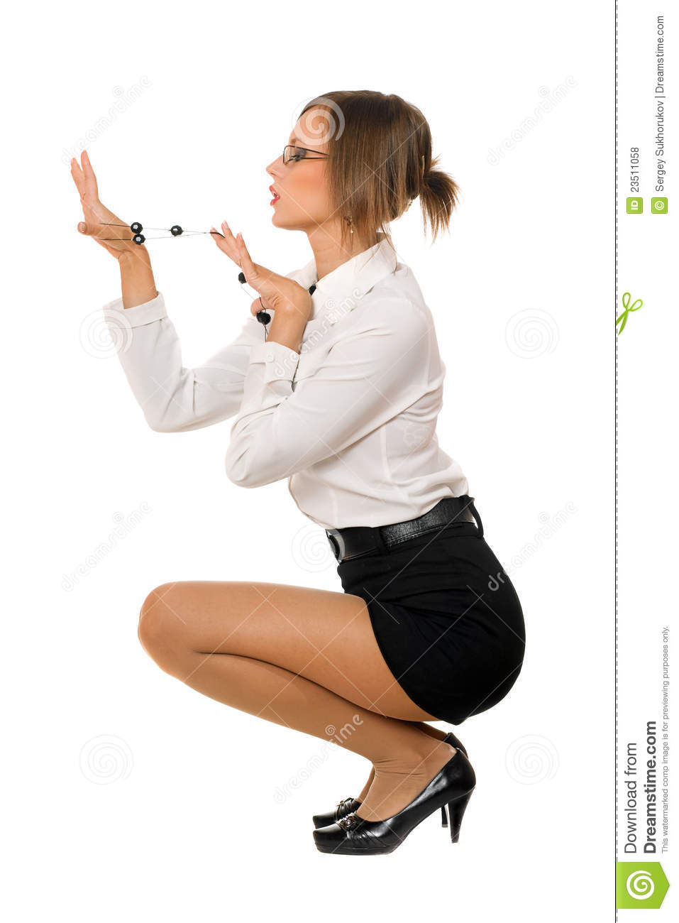 More Similar Stock Images Of Young Pretty Woman In A Black Skirt