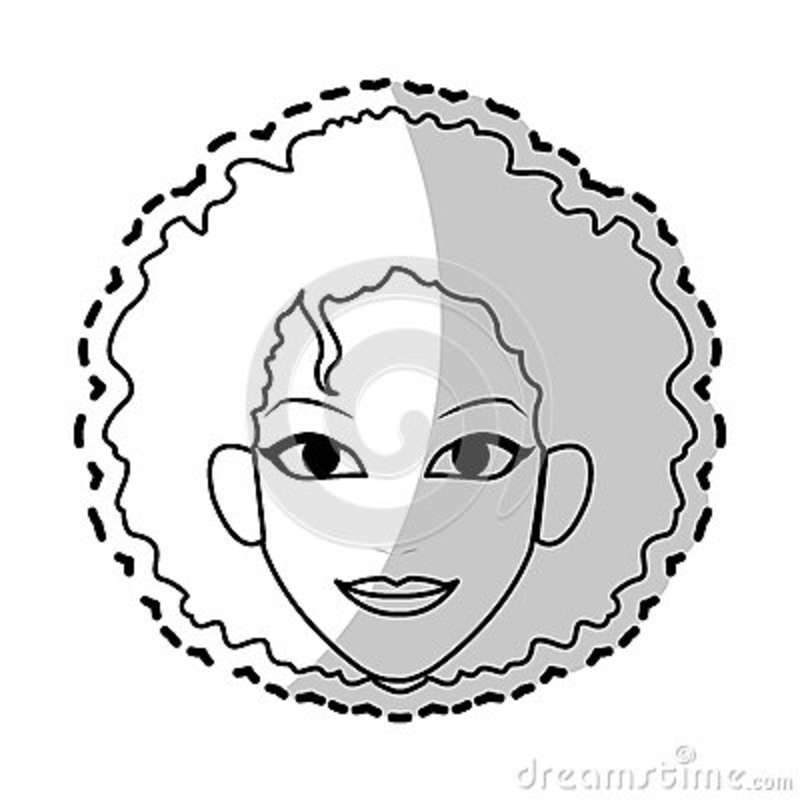 Young Pretty Woman Icon Image Stock Illustration Illustration Of