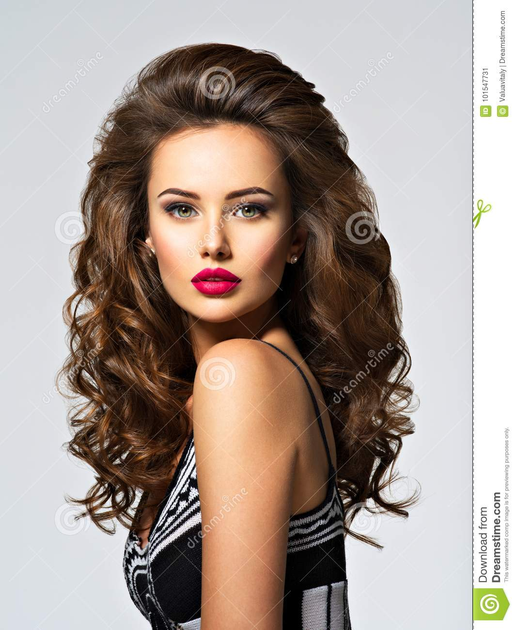 Young pretty woman with long hair