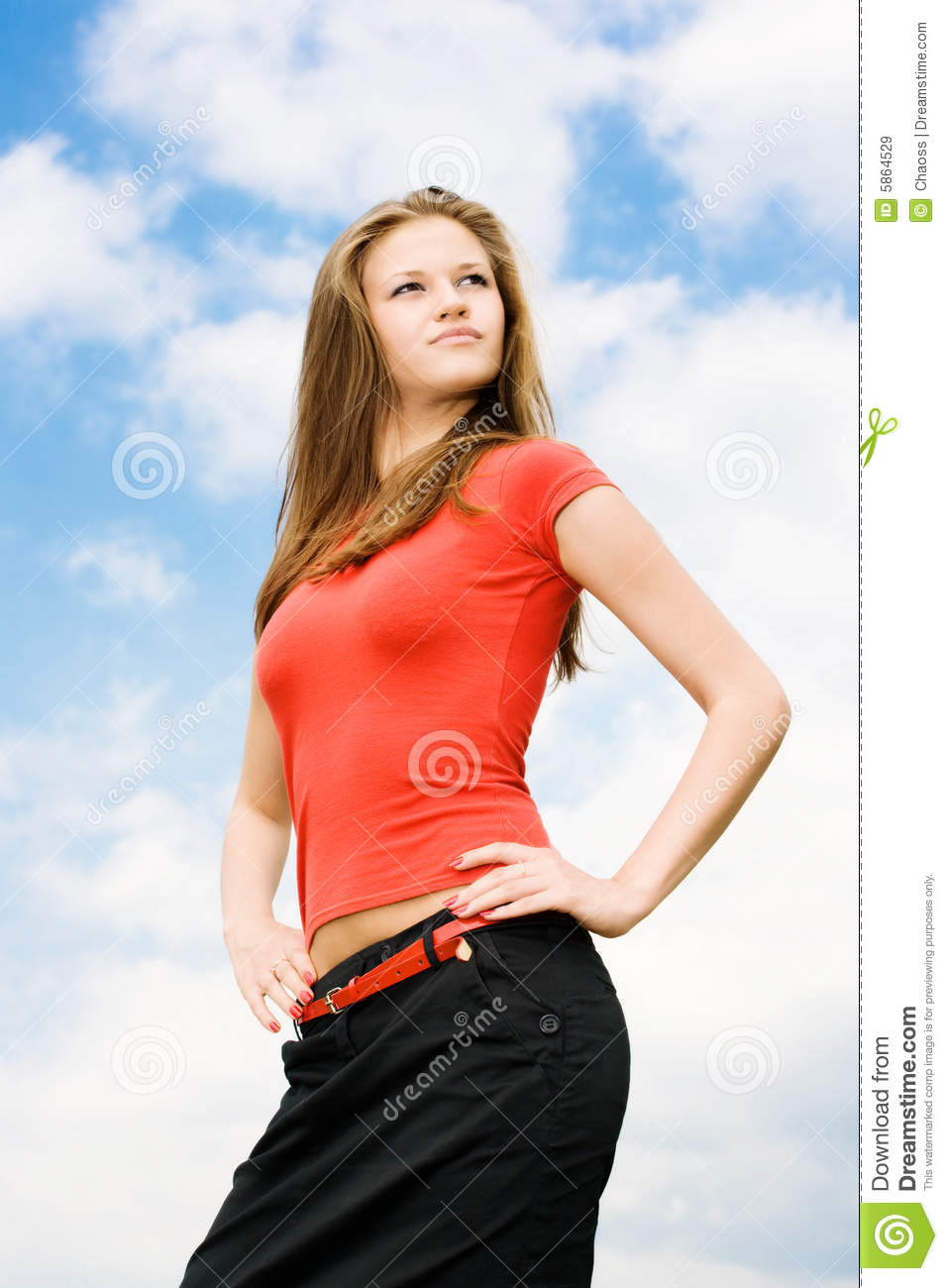 Young Proud Woman Stock Image Image Of Attractive Femininity 5864529